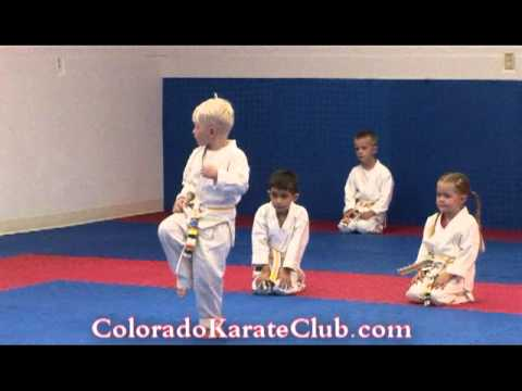 PreK-testing at Colorado Karate Club