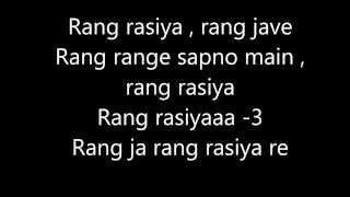 Rang Rasiya title song with lyrics