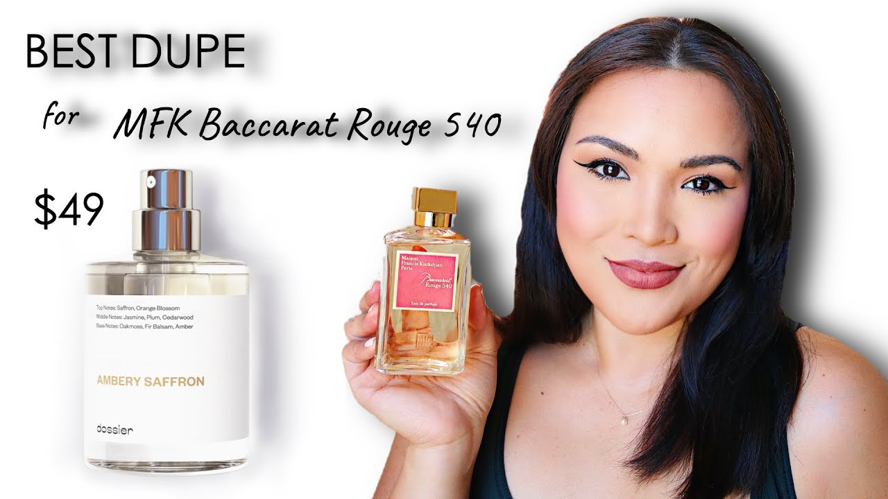 MFK Baccarat Rouge 20 Dupe  $20 vs. $20 The BEST AFFORDABLE DUPE  Dossier Ambery Saffron
