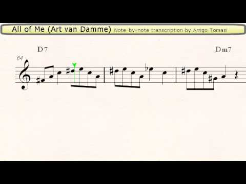 All of Me (Art van Damme) - Jazz Accordion Sheet music
