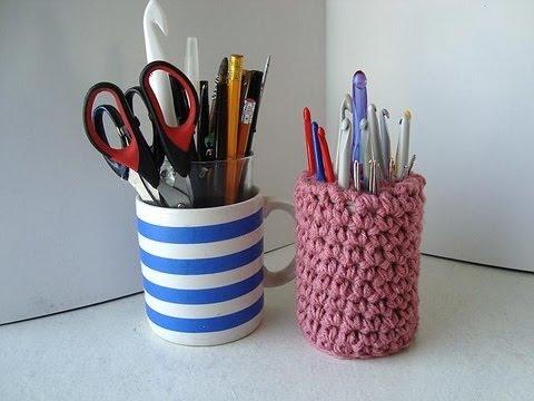 stand up crochet hook holder crochet pattern - YouTube