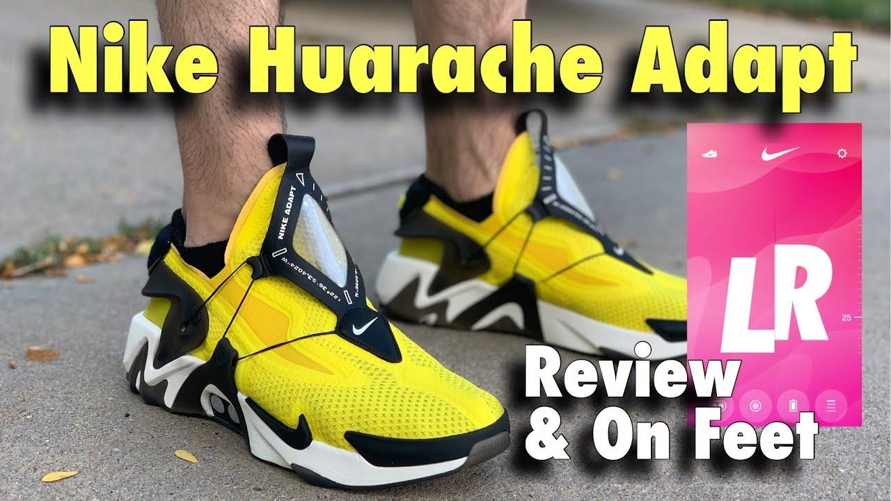 Nike Huarache Adapt (Self Lacing) Review \u0026 On Feet!!