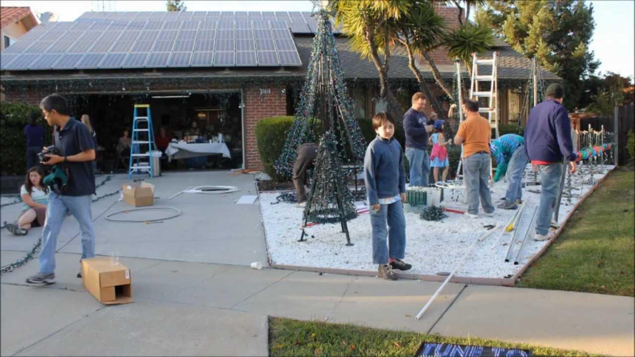 christmas lights setup 2011