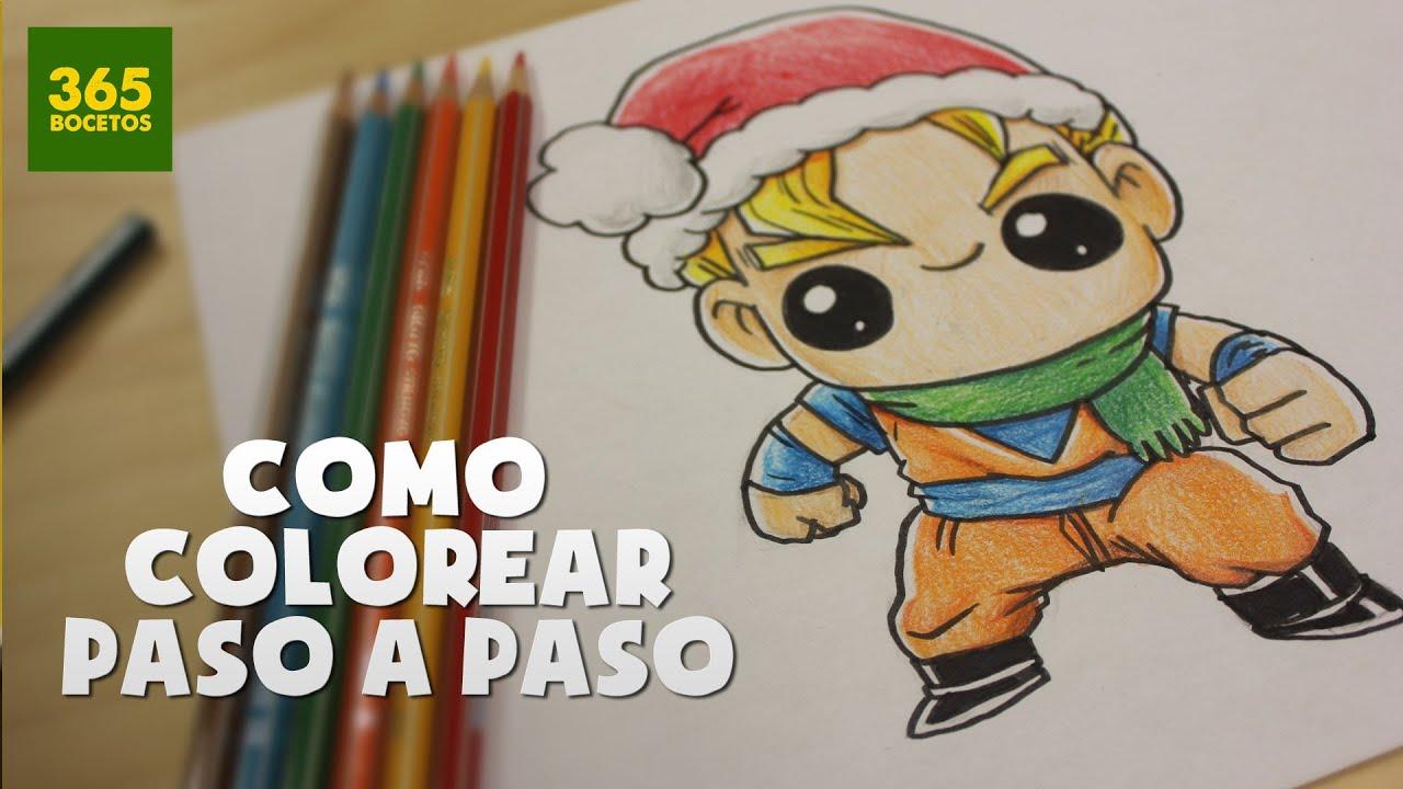 Pintar dibujos de navidad con colores