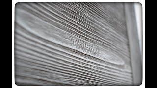 как добиться идеальных  СЕРЫХ цветов на древесине?Брашированиеполный цикл отделки двери из массива