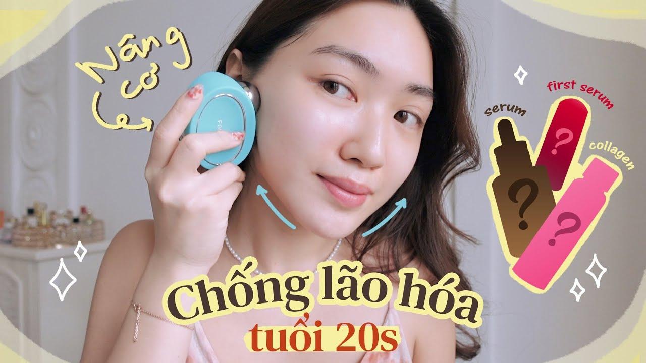 Các sản phẩm chống lão hóa sớm cho tuổi 20s + tip nâng cơ mặt 🧚♀️ | Chloe Nguyen