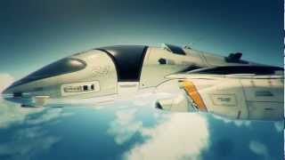 Future Spaceship Concepts - Rendered in Cinema4D