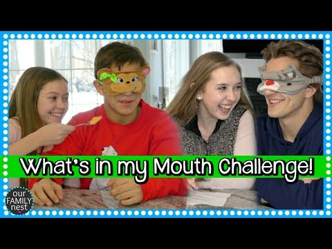 COUPLES CHALLENGE - WHAT'S IN MY MOUTH CHALLENGE!