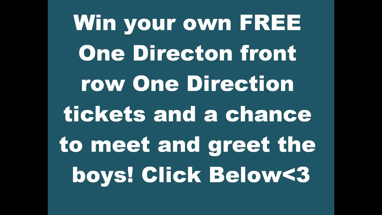 Great chance to win 1d tickets youtube m4hsunfo