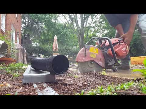 How to Build and Install Yard Drain with Gravity Discharge and French Drain with Sump Pump, DIY