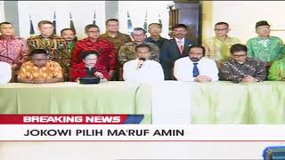 Jokowi Pilih KH Ma'ruf Amin Sebagai Cawapres