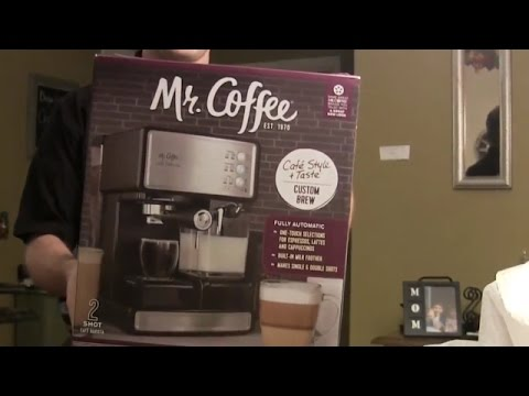 Mr. Coffee Cafe Barista Unboxing - Semi Automatic Espresso Machine