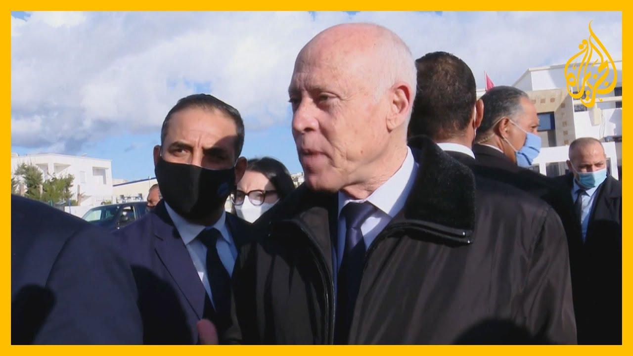 الرئيس التونسي يحذر الشباب المتظاهرين من الانجرار نحو الفوضى  - 06:58-2021 / 1 / 19