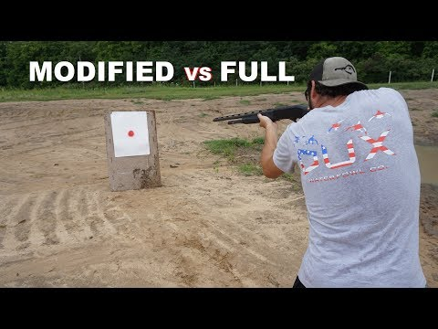 MODIFIED VS FULL CHOKE Shotgun Pattern Testing