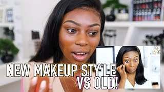 HOW I DO MY MAKEUP NOW VS THEN....JUST DOING THE MOST!