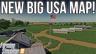 NEW AMERICAN MAP WITH HUGE FIELDS! | New Mods For FS19!