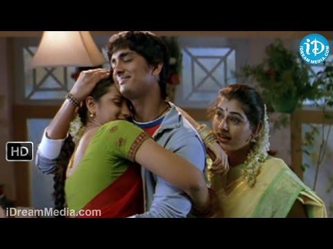 Nuvvostanante Nenoddantana Movie - Srihari, Trisha, Siddharth, Veda Sastry Nice Scene