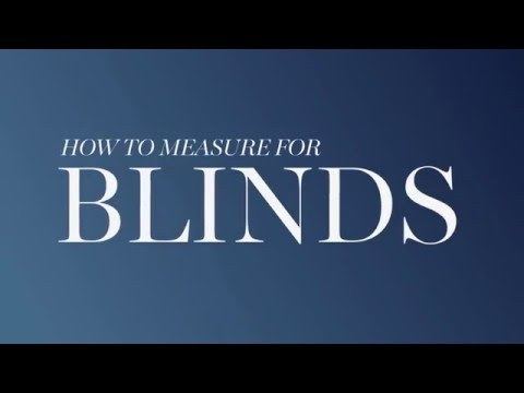 M&S Home: How To Measure For Blinds