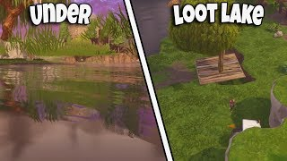 *NEW METHOD* UNDER THE MAP LOOT LAKE WITH ATK | FORTNITE BR GLITCH