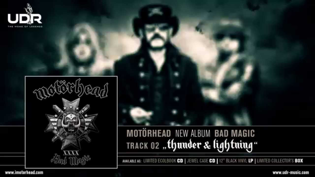 motörhead thunder lightning bad magic 2015 youtube