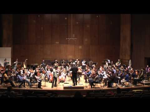 Michael Hwang with UC Berkeley Symphony Rehearsal - Prokofiev Violin Concerto No. 2, I: Allegro,