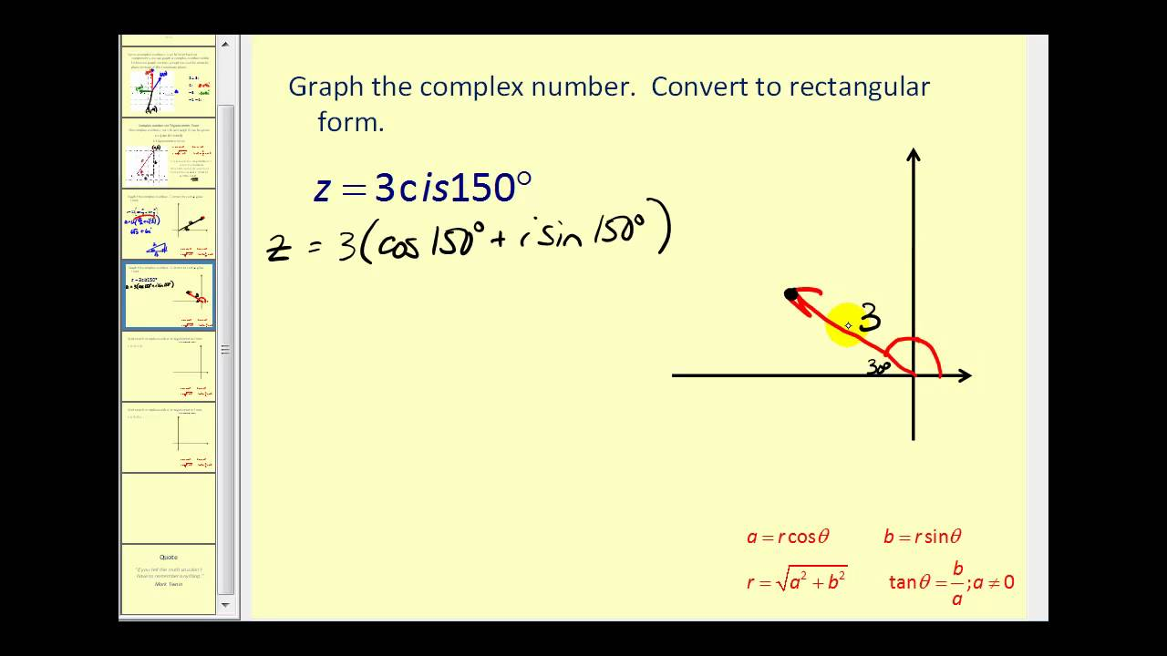 Complex numbers in trigonometric form youtube complex numbers in trigonometric form falaconquin