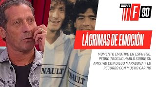 HASTA LAS LÁGRIMAS: #Troglio se quebró recordando su amistad con Diego #Maradona en #ESPNF90