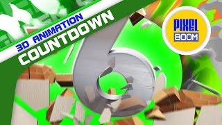 Green Screen Countdown Wall Destruction Voice SFX - Footage PixelBoom