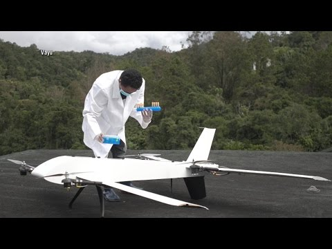 Doctors use drones to drop medical supplies in Madagascar