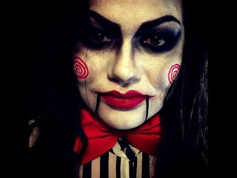 Jigsaw Halloween Makeup - YouTube