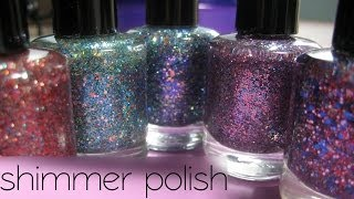 Indie Brand Shimmer Polish, Swatches & Review | ArcadiaNailArt