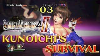Samurai Warriors 4-II Survival Mode 30-50: Make way for Kunoichi!