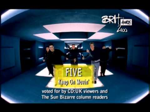 5ive win British Pop Act presented by Cat Deeley and Ant & Dec | BRIT Awards 2000