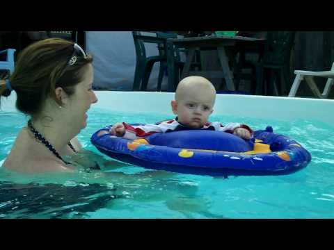 Jake Thomas Anthony in the pool in OBX.