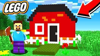 BUILDING WORLDS BIGGEST LEGO HOUSE in MINECRAFT!