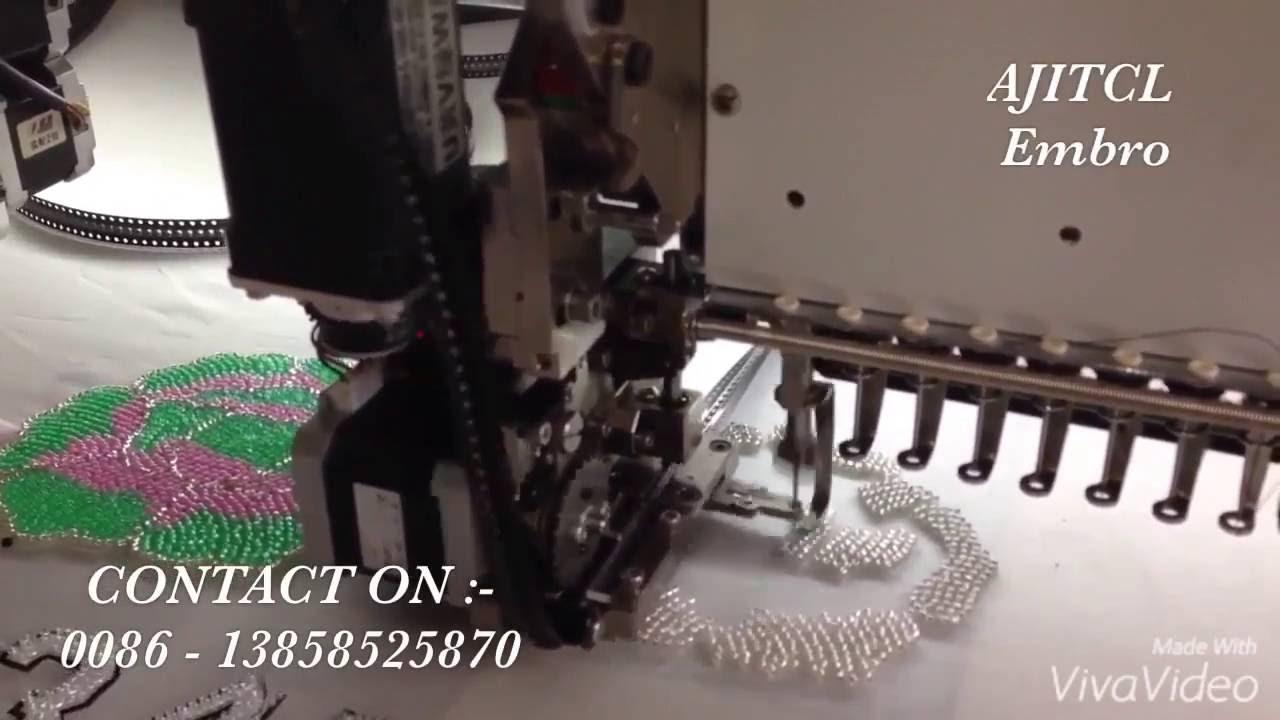 Ajitcl smart intelligent computerized bead embroidery