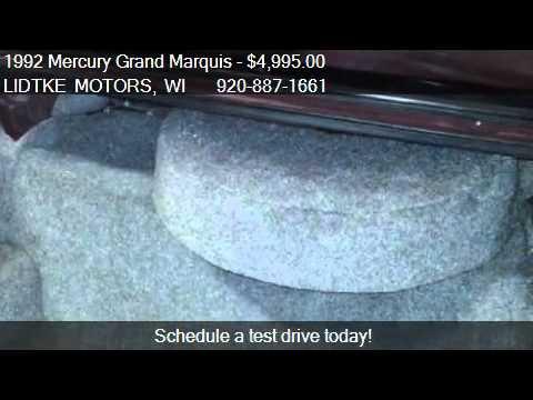 1992 Mercury Grand Marquis Ls For Sale In Beaver Dam Wi