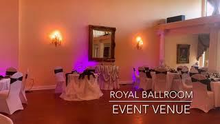 Black, White, Plum & Crystal - Wedding at Royal Ballroom Event Venue