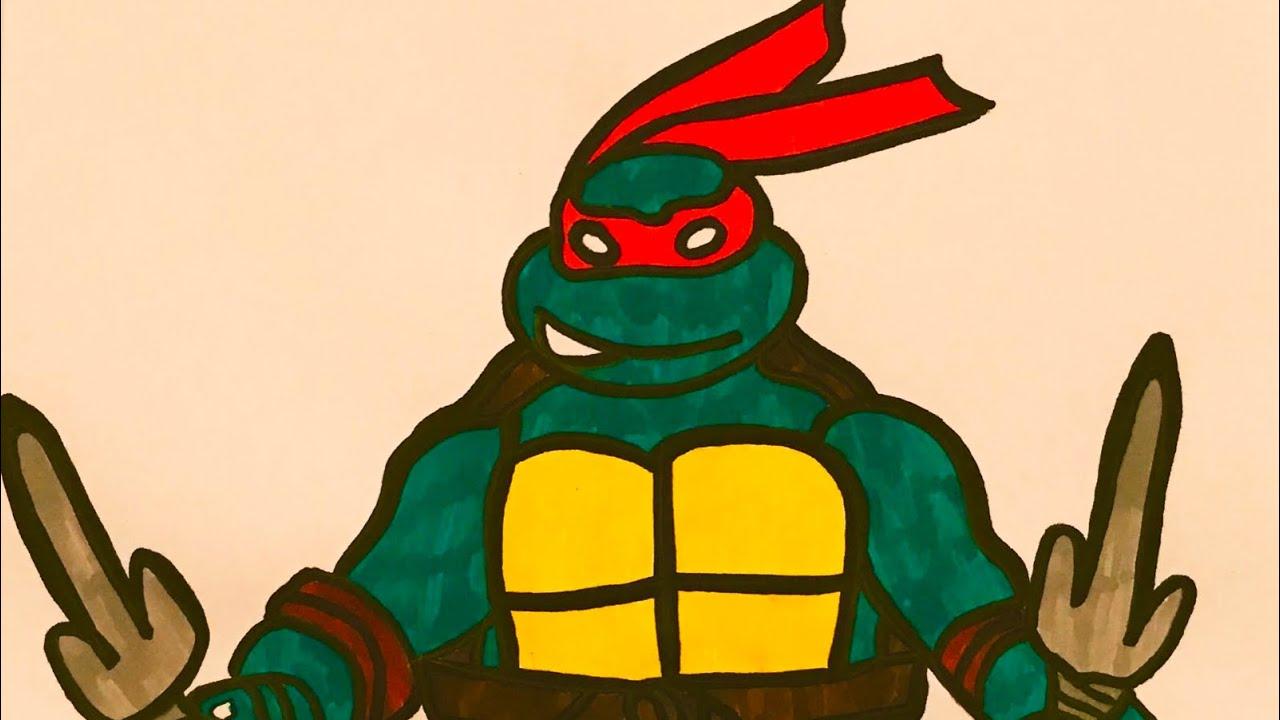 Come Disegnare Raffaello Tartarughe Ninja Haw To Draw Ninja Turtles Raphael Youtube