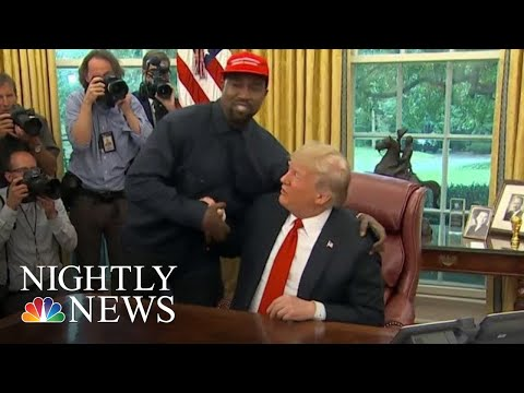 Rapper Kanye West Delivers 10-Minute Monologue In President Trump Meeting | NBC Nightly News