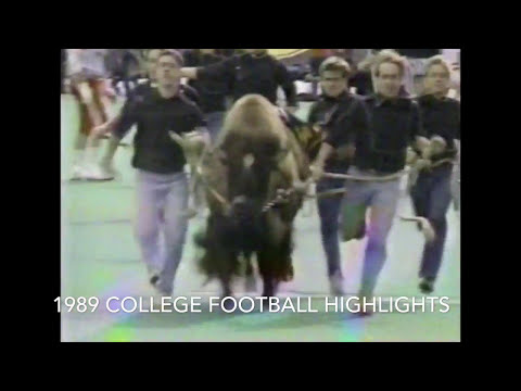 "1989 College Football highlights - ""Buffalo Stance"" by Neneh Cherry"