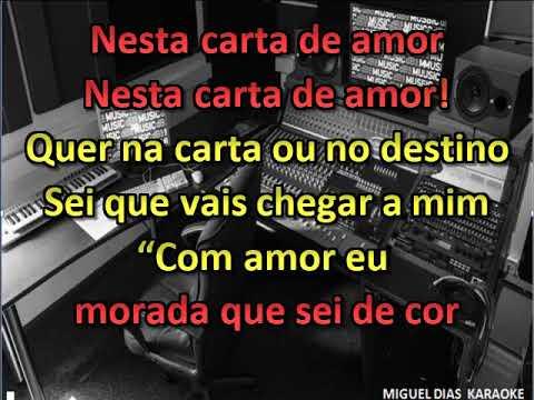 Paulo Sousa - Carta de Amor (Karaoke) Versão