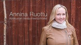 Annina Ruottu varapuheenjohtajaksi