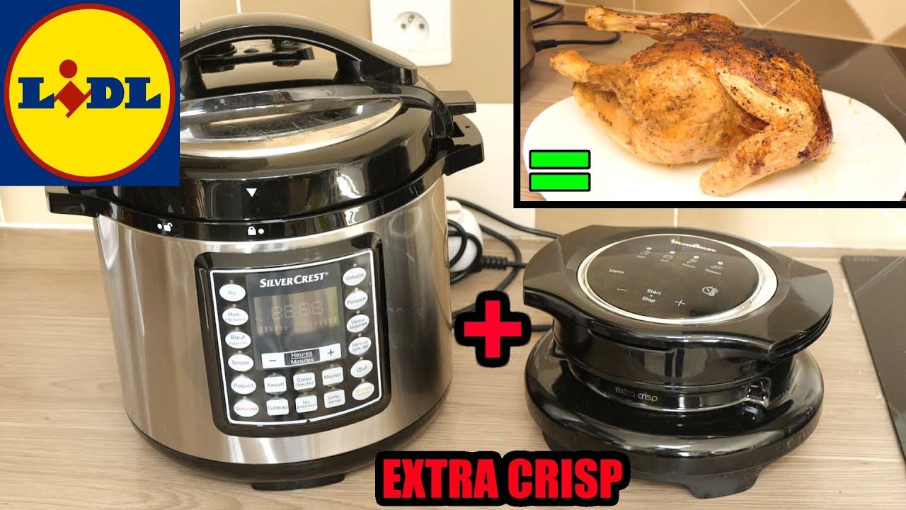 Download je test le multicuiseur LIDL avec le Moulinex Extra Crisp Couvercle COOKEO (friteuse à air chaud)