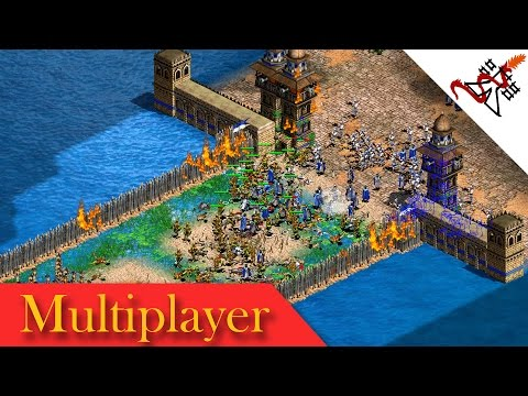 Age of Empires 2 - 8P FFA FRONT TOWERS CASTLE BLOOD   Multiplayer Gameplay