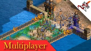 Age of Empires 2 - 8P FFA FRONT TOWERS CASTLE BLOOD | Multiplayer Gameplay