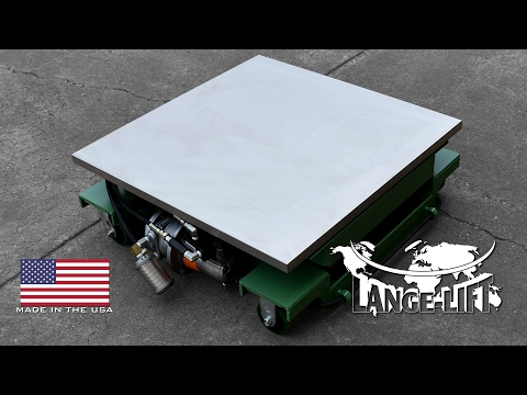 Air Powered Scissor Lift with Stainless Steel Cover | 1,200 Pound Capacity