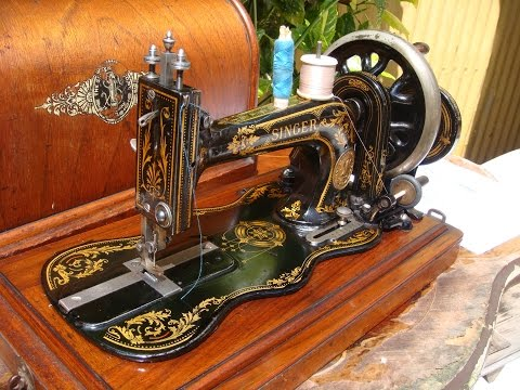 Old Vintage Antique Hand Crank Singer Sewing Machine Model 12K 1887 *See Video*
