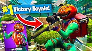 NEW TOMATO HEAD SKIN GAMEPLAY!! FORTNITE BATTLE ROYALE WITH TEAM ALBOE!!