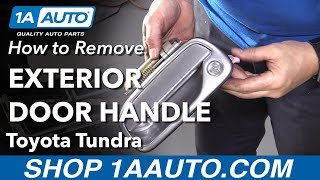 How to Remove Exterior Door Handle on a 2000-06 Toyota Tundra